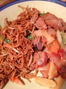 Roast Pork Noodles from Great Wall, Tewkesbury