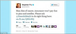Stephen Fry Supports Nics Fight
